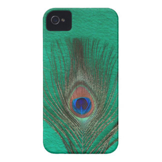 Green Peacock Feather iPhone 4 ID Case
