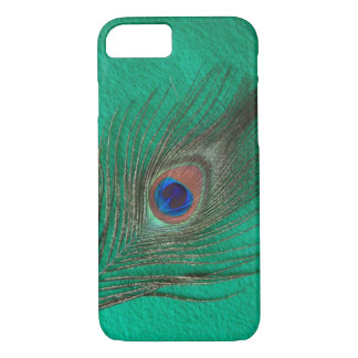 Green Peacock Feather iPhone 7 case