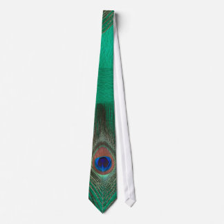 Green Peacock Feather Tie