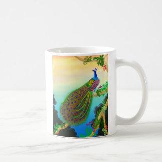 Green Peacock in the Jungle Coffee Mug