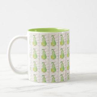 Green pear, healthy eating pretty mug