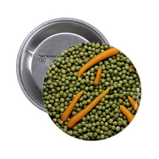 Green peas and carrots 6 cm round badge