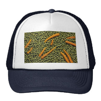 Green peas and carrots mesh hats