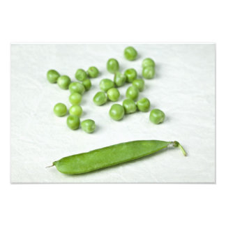 Green peas and husk photo