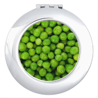 Green Peas Background Travel Mirrors