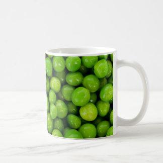 Green peas basic white mug