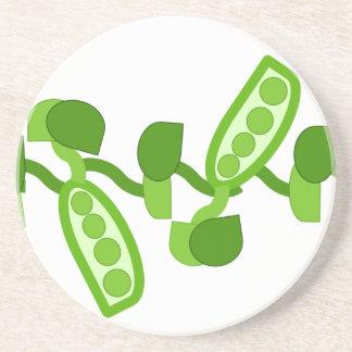 Green Peas Beverage Coasters