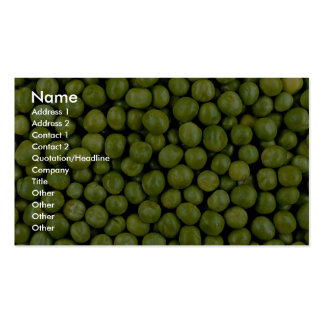 Green peas business cards