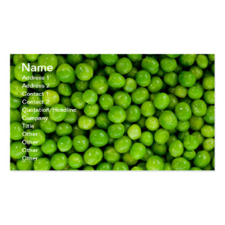 Green Peas Business Card Template
