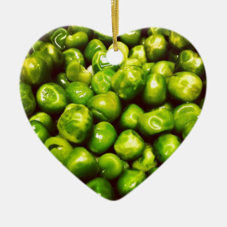 Green Peas Ceramic Heart Decoration