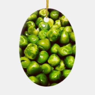 Green Peas Ceramic Oval Decoration