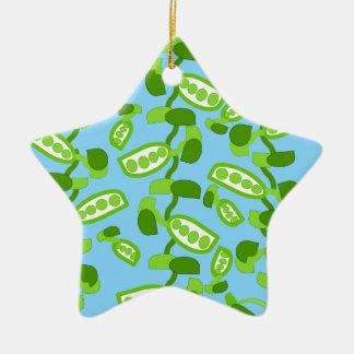 Green Peas Ceramic Star Decoration