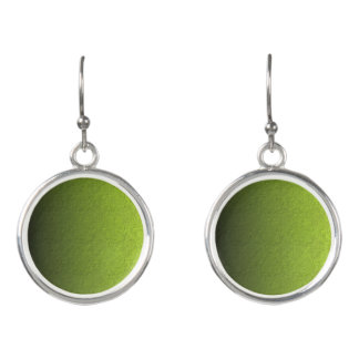 Green Peas Circle  Drop Earrings
