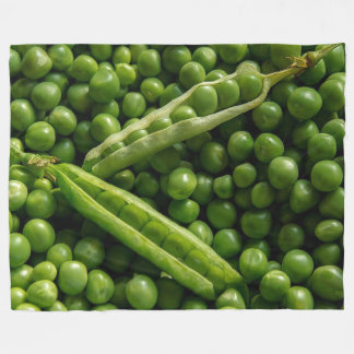 Green Peas on Large Fleece Blanket