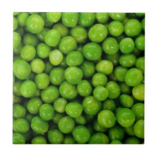 Green peas small square tile