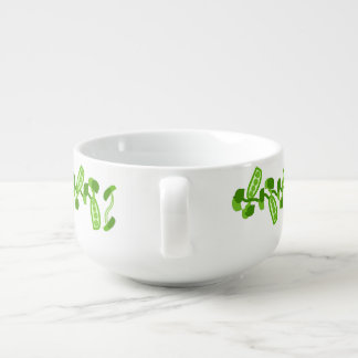 Green Peas Soup Bowl With Handle