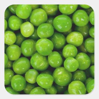 Green peas square sticker