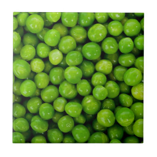 Green peas small square tile