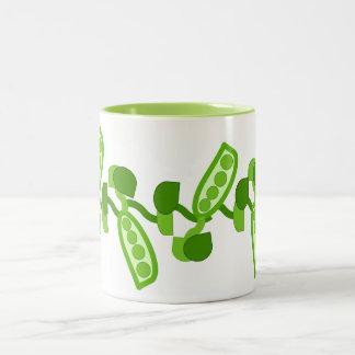 Green Peas Two-Tone Coffee Mug