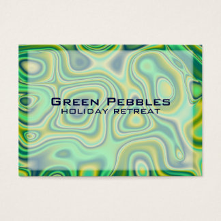 green pebbles business card