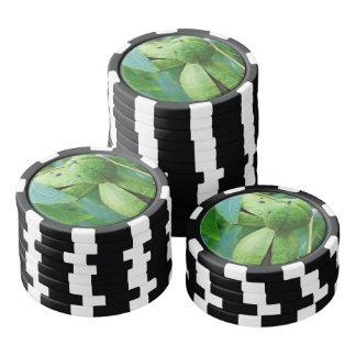Green Pecan fruit Poker Chips