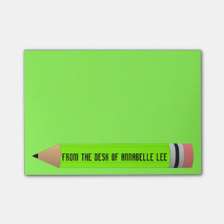 Green Pencil Post-it® Notes