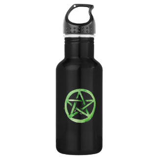 Green pentagram 532 ml water bottle