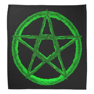 Green Pentagram Bandanna