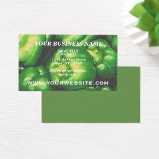 Green Pepper Farm Produce Business Business Card