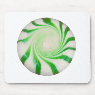 Green peppermint Christmas Mint Mouse Pad