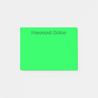 Green Personal Text Post-it Notes