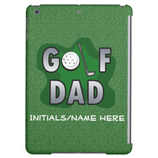 Green Personalized Golf Dad Cover For iPad Air