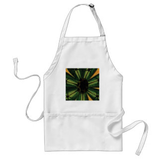 green petal flowers standard apron
