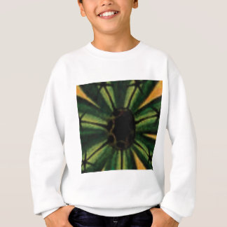 green petal flowers sweatshirt