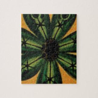 green petal stemm jigsaw puzzle