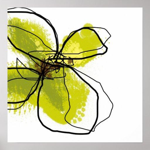 Green Petals Art Print