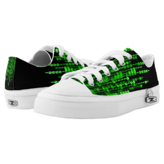 Green Phantom Dragon Binary Code Low Tops