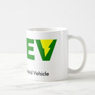 Green PHEV plug-in hybrid electric vehicle Basic White Mug