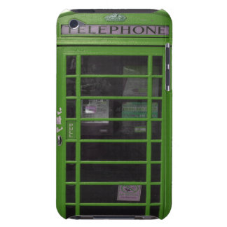 green phone booth iPod Case-Mate cases