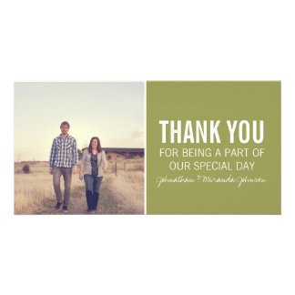 Green Photo Thank You Cards Photo Card Template