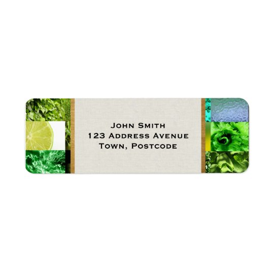 Green Photography Collage Return Address Label