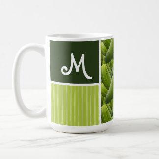 Green Pickles; Pickle Pattern Coffee Mug