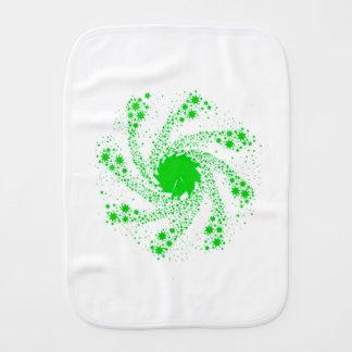 Green Pin Wheel Burp Cloth