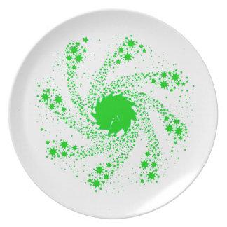 Green Pin Wheel Plate
