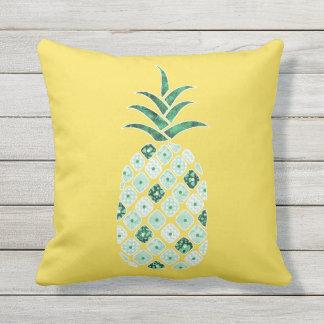 Green Pineapple Outdoor Pillow