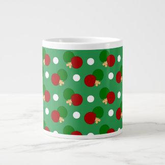 Green ping pong pattern jumbo mug