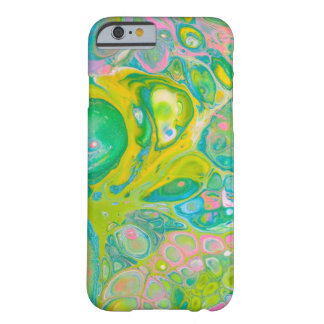 Green & Pink Acrylic Pour Art Barely There iPhone 6 Case
