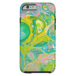 Green & Pink Acrylic Pour Art Tough iPhone 6 Case