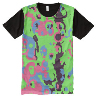 Green pink and blue chaos All-Over print T-Shirt