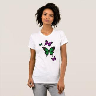 Green/pink Butterflies,  Swallow tail Butterfly T-Shirt